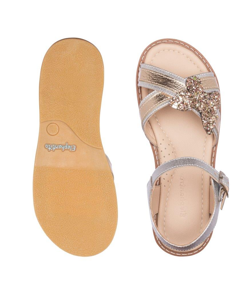 Butterfly Crossed Sandal Glitter