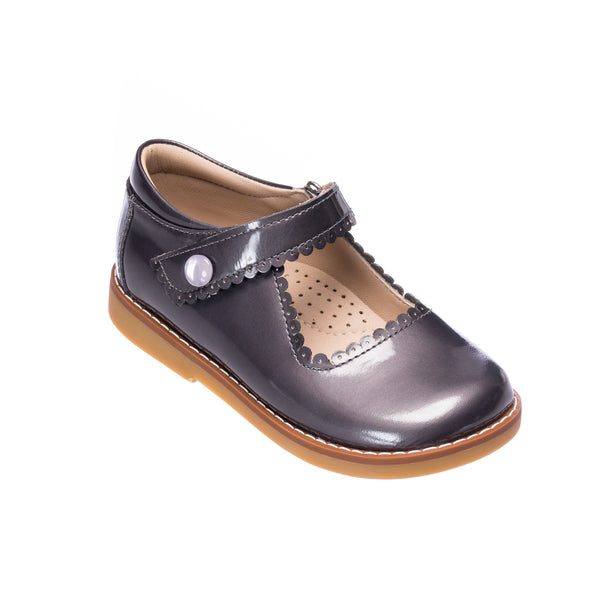 Mary Jane Toddler Patent Steel