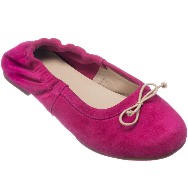 Alessia Flat Suede Bright Pink