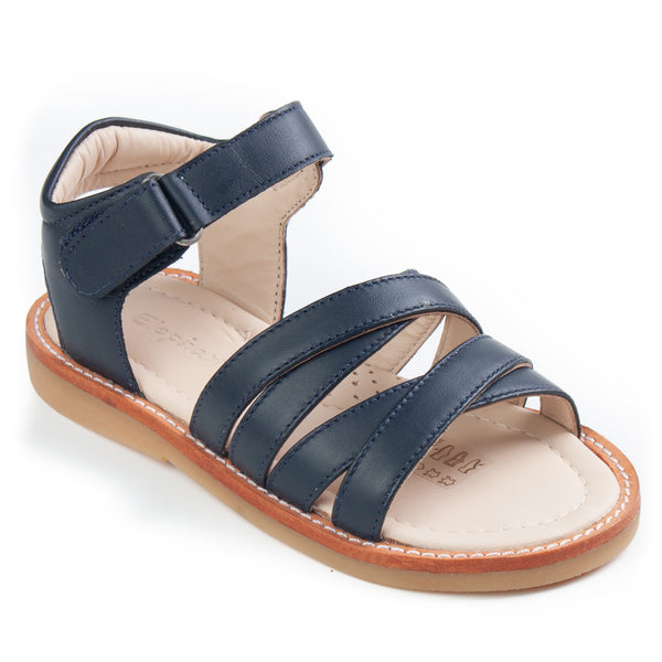 2C Sandals Leather Navy