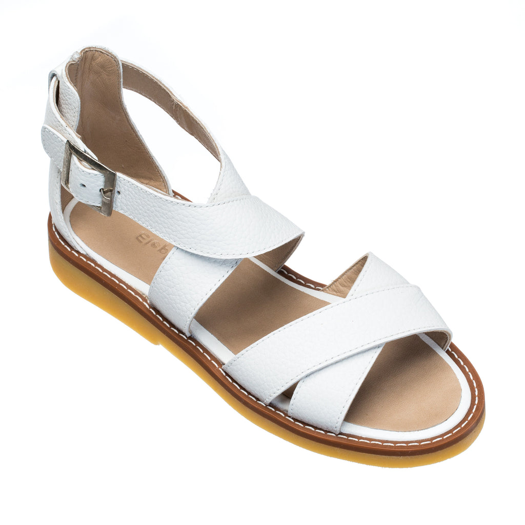 Cecil Crossed Sandal White