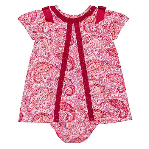 Paisley Flamingo Baby Dress w/Bows