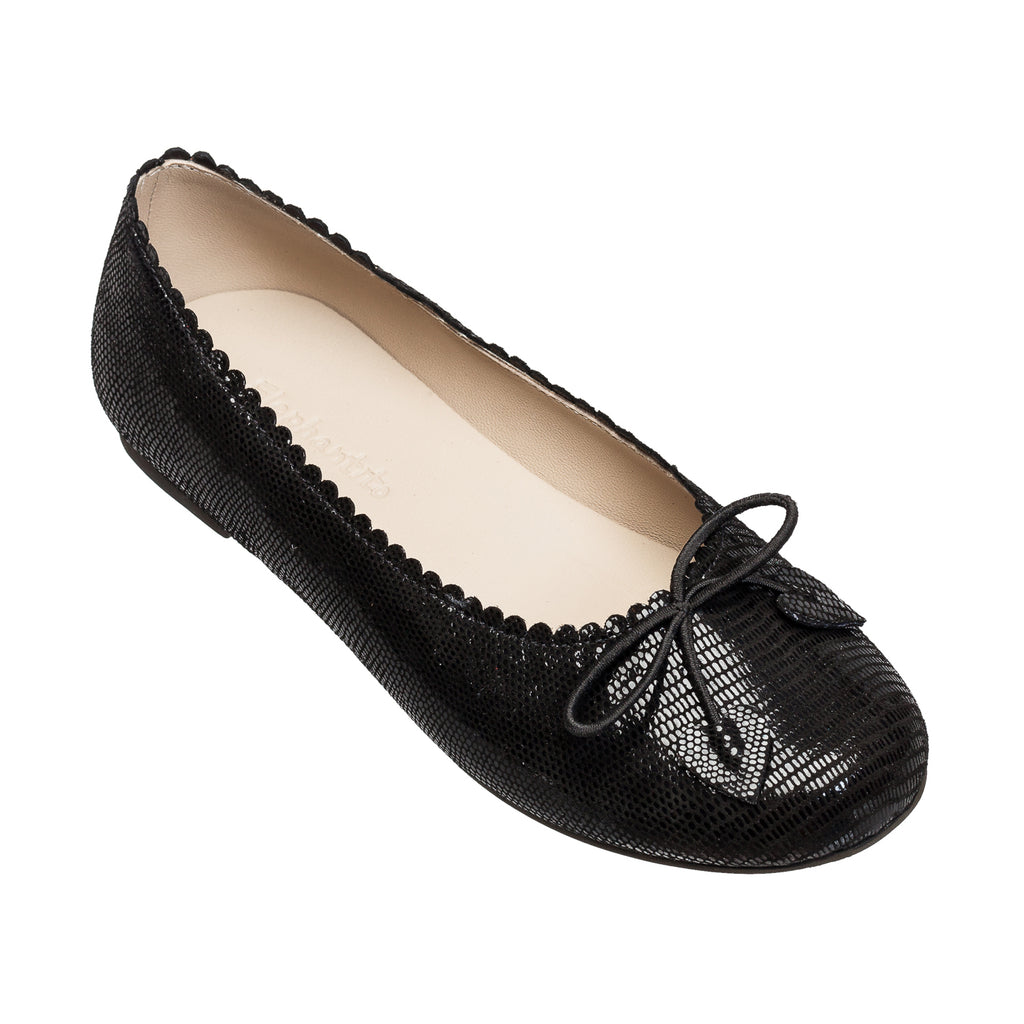 Scalloped Ballerina Black