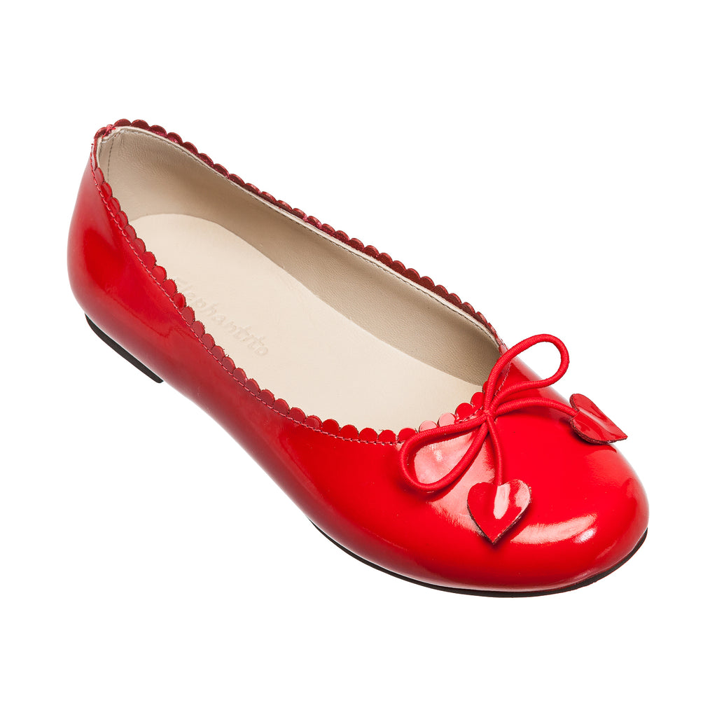 Scalloped Ballerina Patent Red