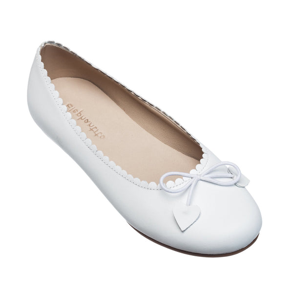 Scalloped Ballerina White