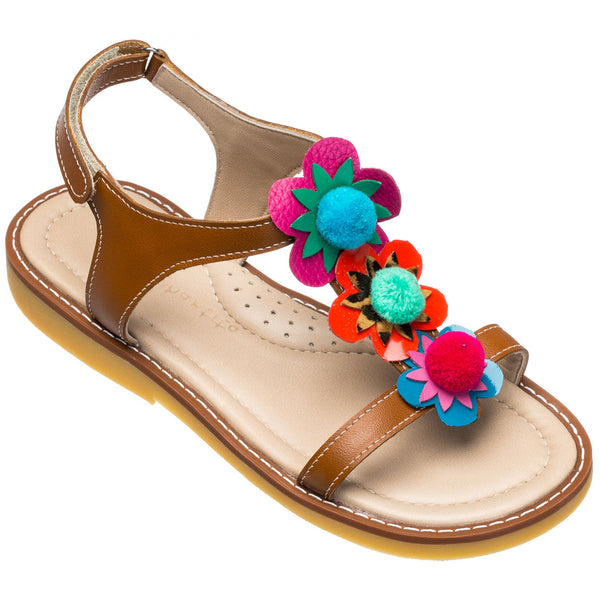 Caribe Pom Pom Sandal Multi Color