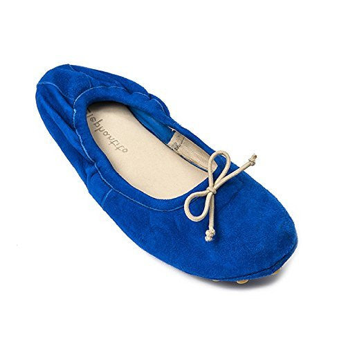 Alessia Flat Suede Electric Blue