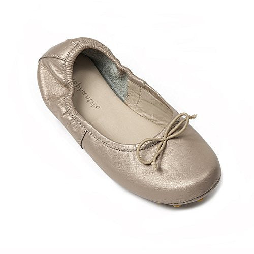 Alessia Flat Toddler Champagne