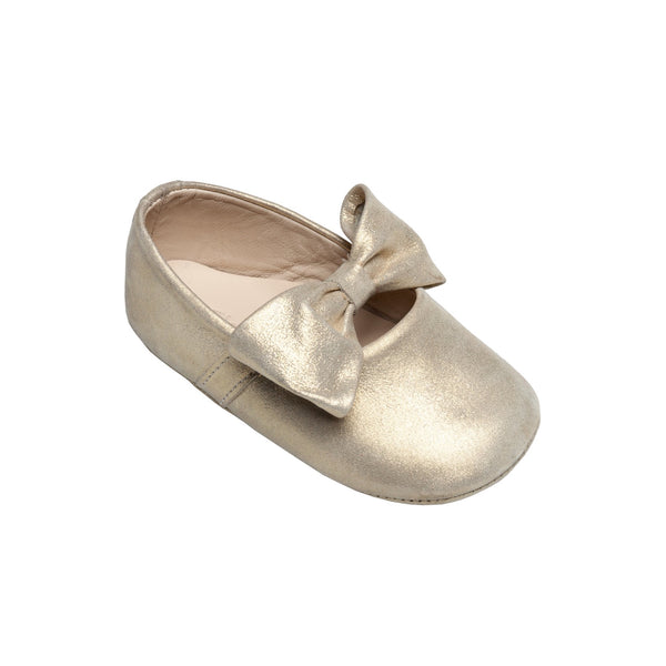 Baby Ballerina with Bow Gold