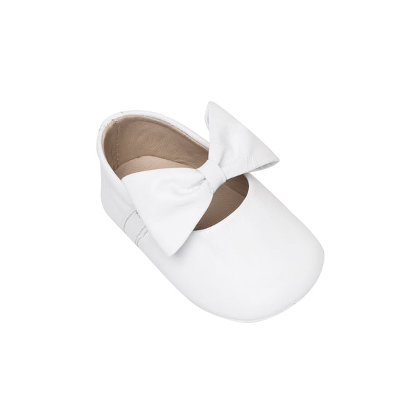 Baby Ballerina with Bow White