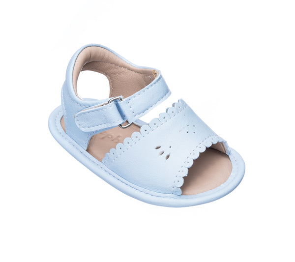 Sandal W/Scallop Light Blue