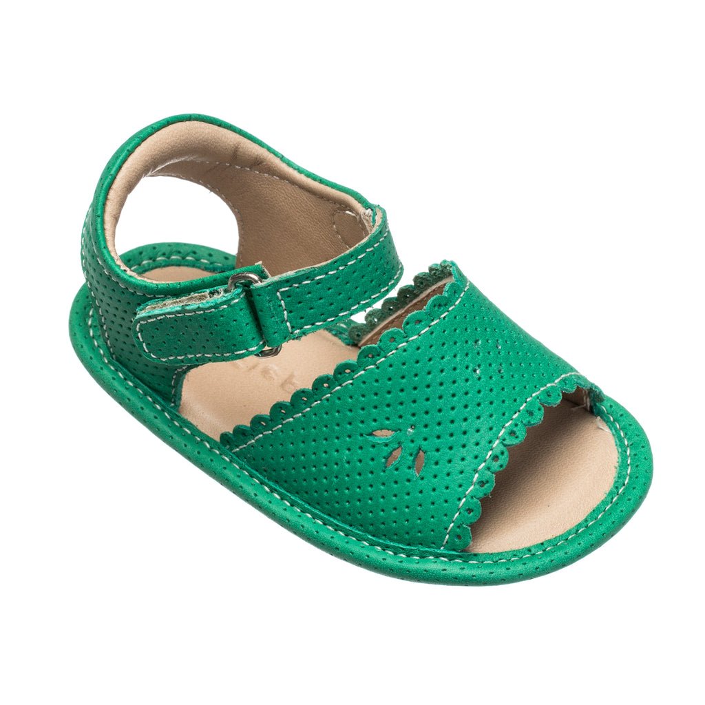 Sandal W/Scallop Green
