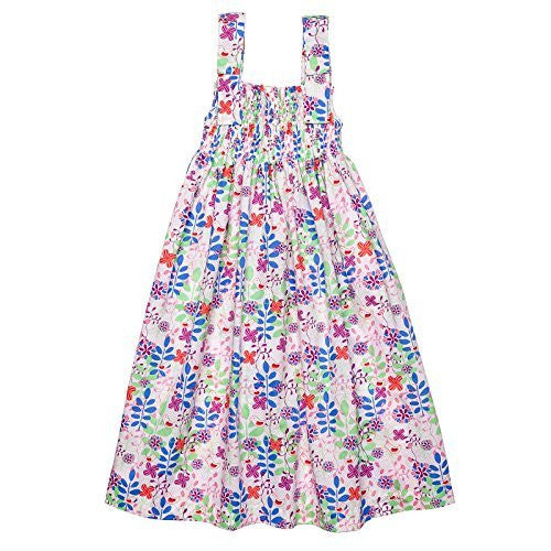 Birds and Flowers Smocked Summer Dress