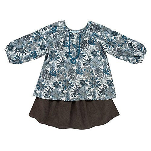 Blue Blouse & Skirt Set