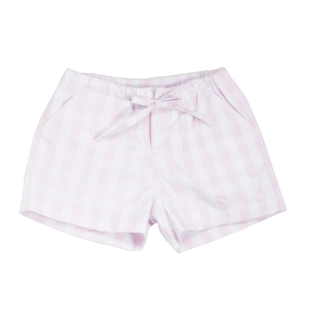 Cannes Pink Plaid Shorts