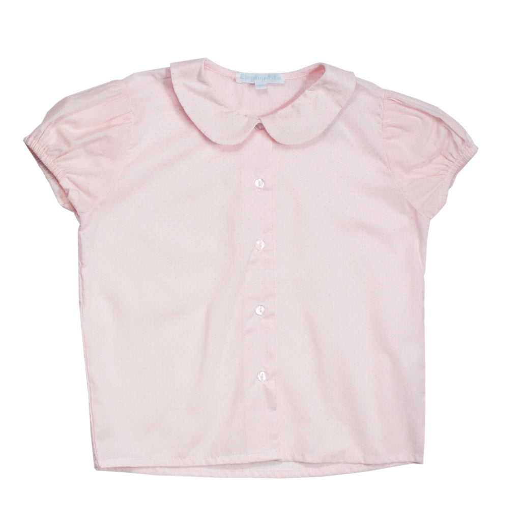Classic Short Sleeves Pink Blouse