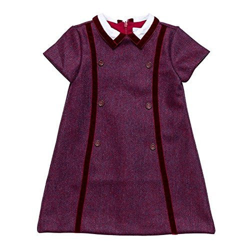Carmine Oxford Wool Dress