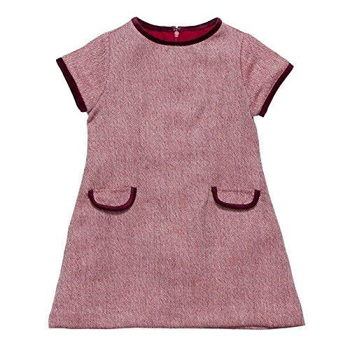 Cerise Wool Fitted Dress