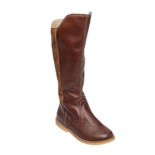 Color Block Tall Boot Brown