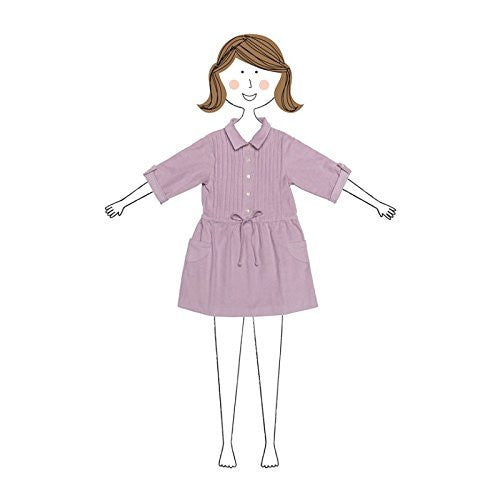 Cord. Shirt Dress Dusty Lilac