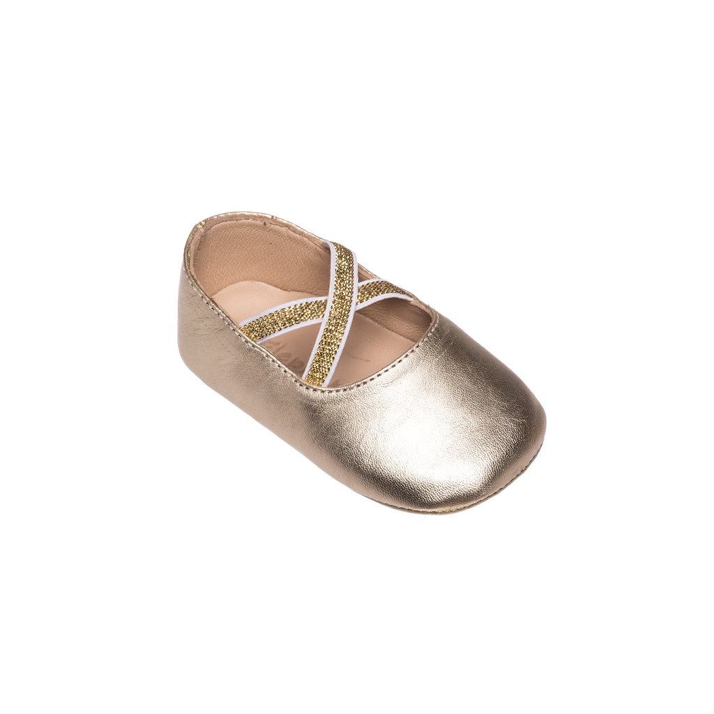 Crossed Ballerina Baby Gold