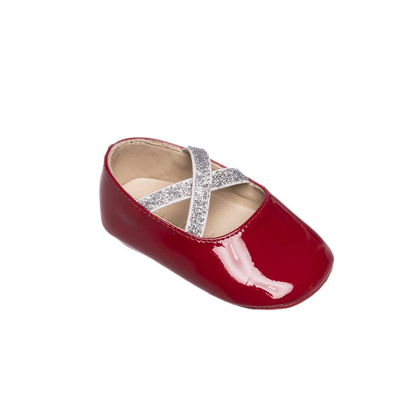 Crossed Ballerina Baby PTN Red