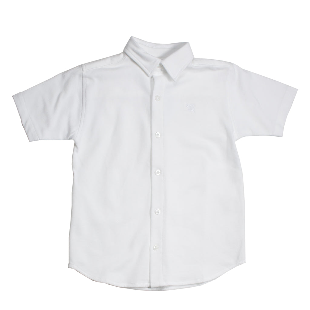 White Pima Polo