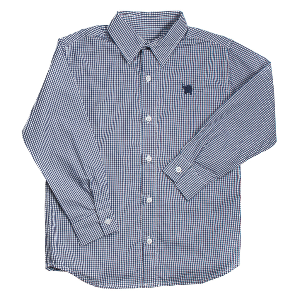 Long Sleeves Navy Shirt