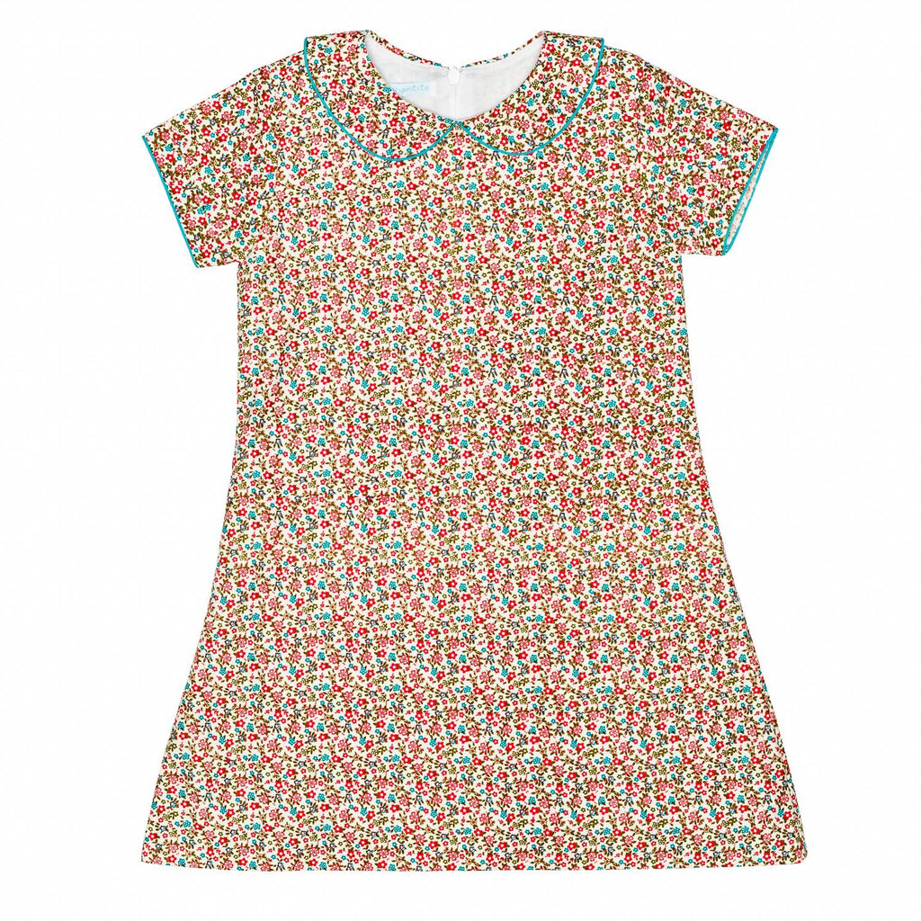 Floral Coral A line w/Collar