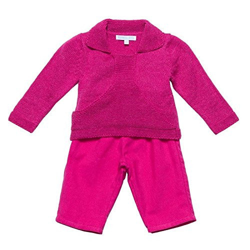 Hot Pink Baby Sweater Set