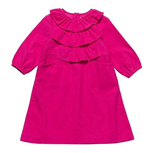 Hot Pink Front Ruffled Dress