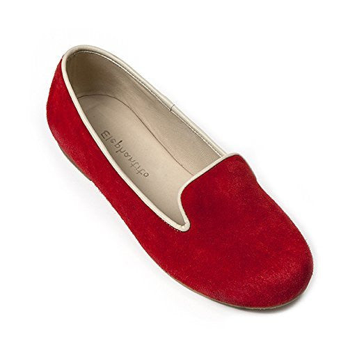 Leather Slipper Poppy Red