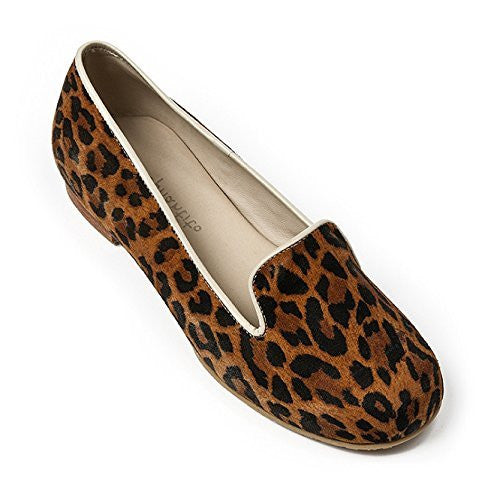 Leather Slipper Suede Leopard