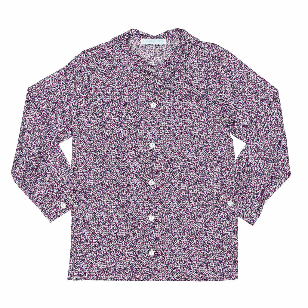 Liberty of London/Lavender Floral Blouse+Skirt Set