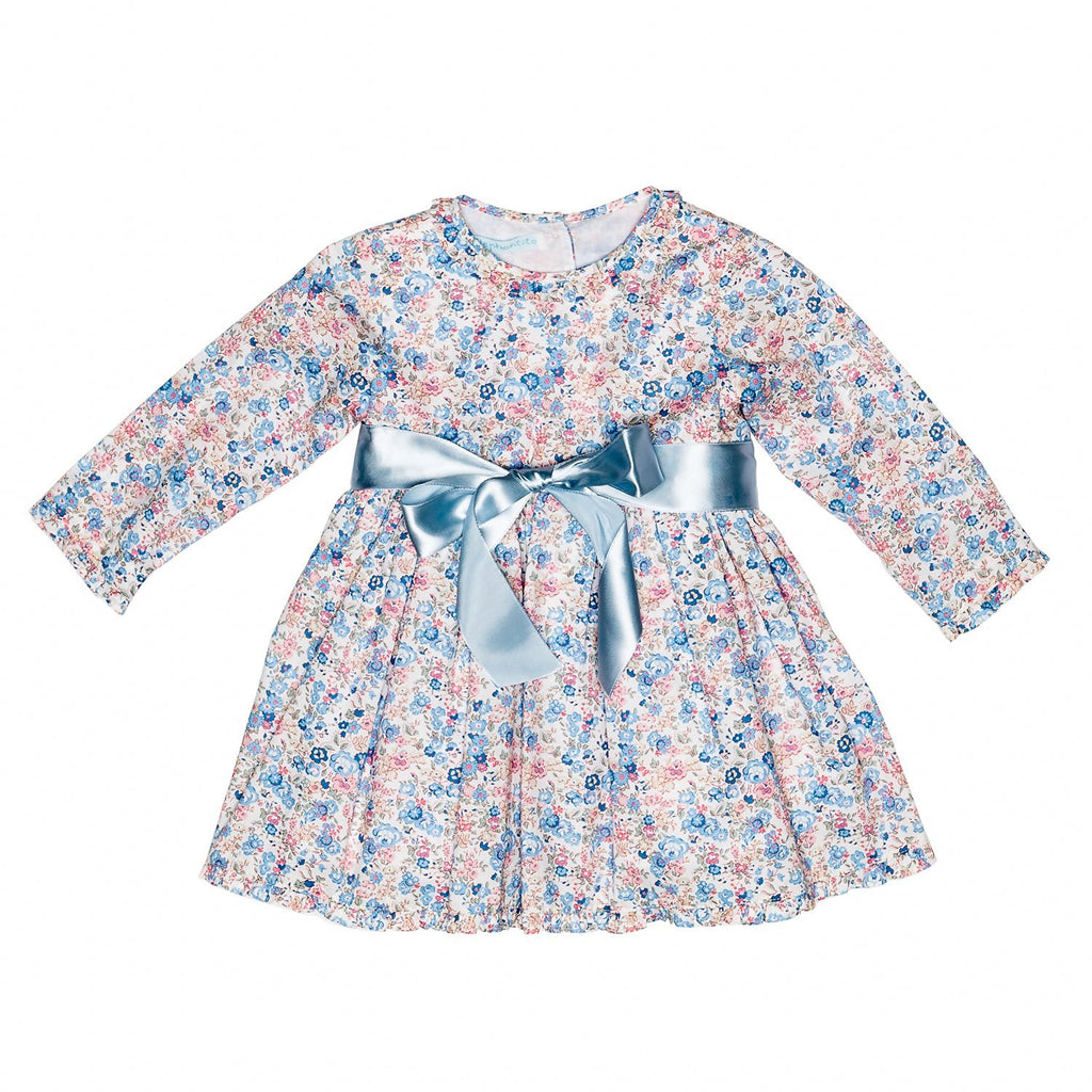 Liberty of London/Pink Floral Ruffled Baby Dress