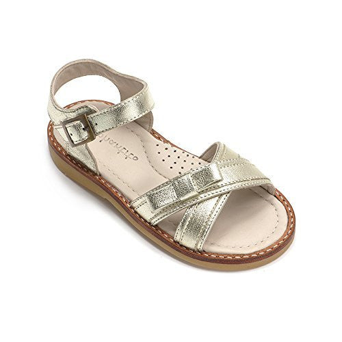 Lili Crossed Sandal Toddler Patent Gold