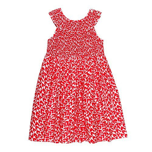 Love Red Smocked Dress