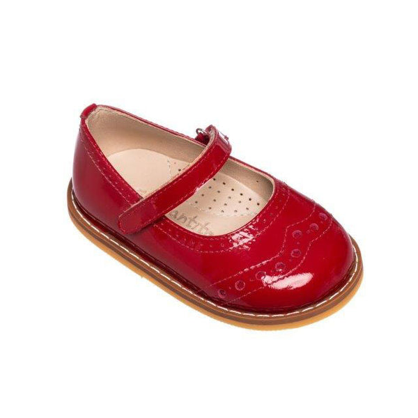 Martina Flats Patent Red