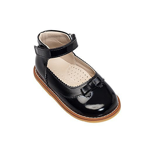 Mary Jane with Bow Toddler Patent Black