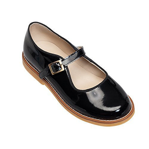 Mary Jane with Buckle Patent Black