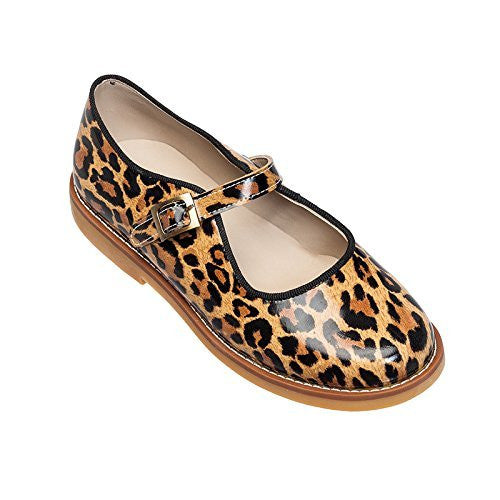 Mary Jane with Buckle Patent Leopard