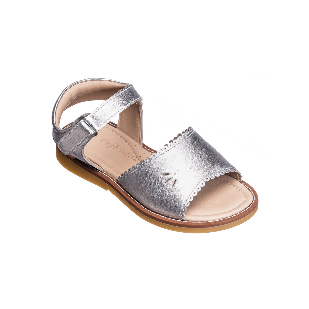 Classic Sandal with Scallop Toddler Silver