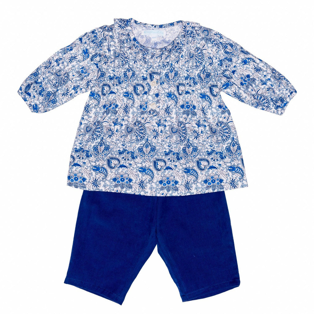 Paisley Blue Tunic Baby Set
