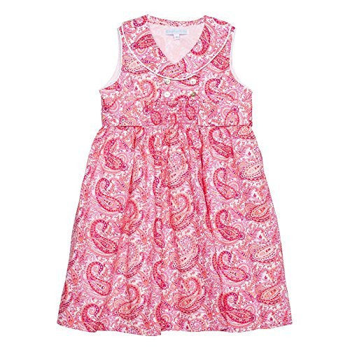 Paisley Flamingo Festive Dress w/Front Smock