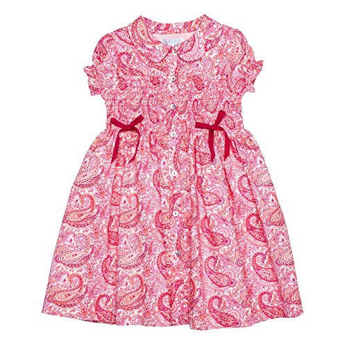 Paisley Flamingo Smocked Shirt Dress