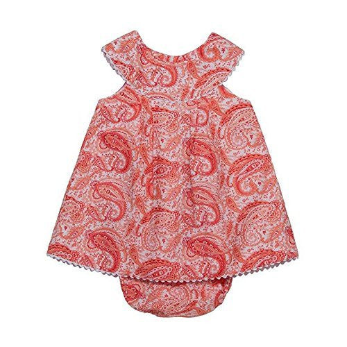 Paisley Red Baby Dress