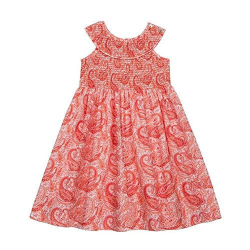 Paisley Red Smocked Dress