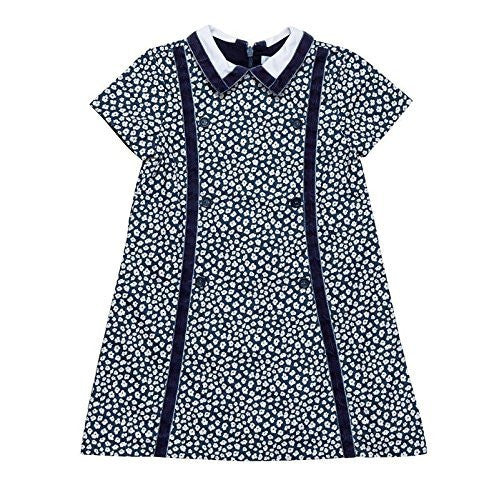Peacock Blue Oxford Floral Dress