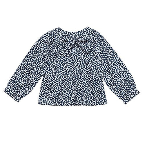 Peacock Blue Tiefront Blouse