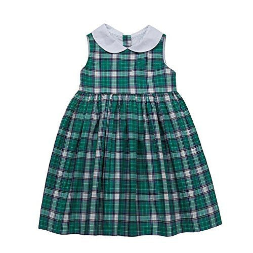 Plaid Dress with Collar